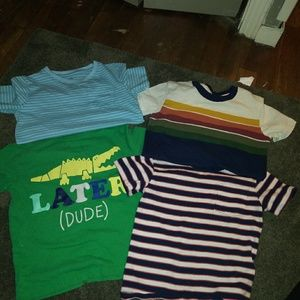 Preowned Lot of 4 Toddler Boy shirts,Size 3t